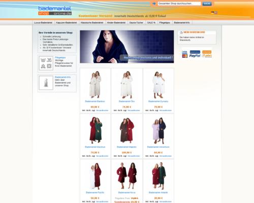 Bademantel Online